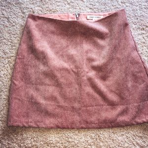 Honey Punch Light Pink Corduroy Skirt